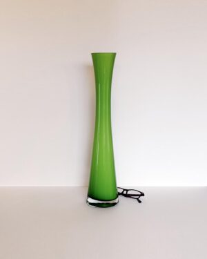 tall-green-cased-glass-hourglass-vase