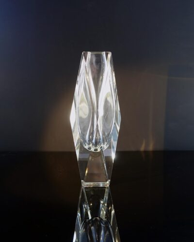 signed-Mandruzzato-clear-faceted-block-vase