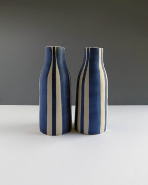 Scandinavian-style-handpainted-striped-vases