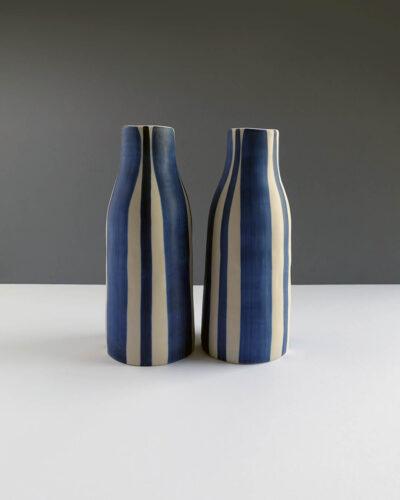 Scandinavian-style-handpainted-striped-vases