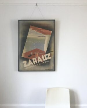 zarauz-spain-golf-travel-poster