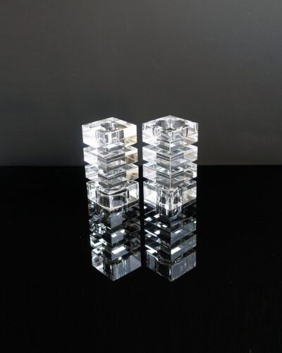 Glamorous-Tall-Crystal-Op-Art-Candle-Holders