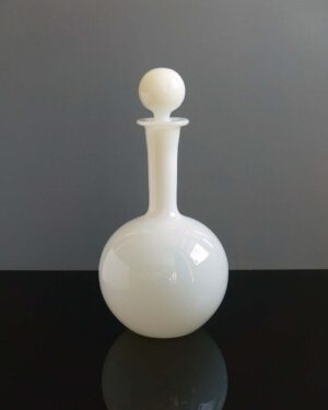 Tarnowiec White Cased Glass Decanter