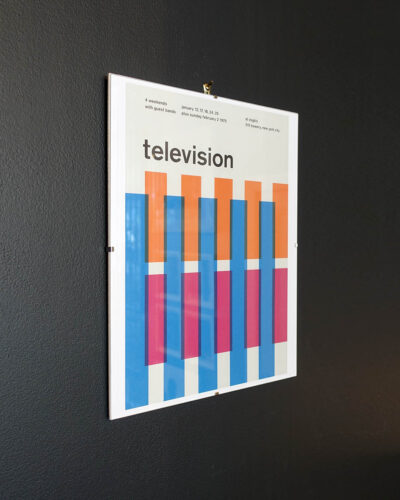 Television 1975 Concert Poster Reimagined