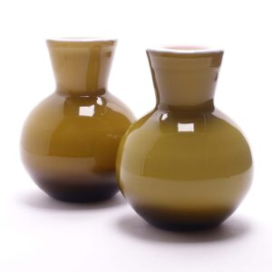 ekenas-glasbruk-olive-green-cased-glass-bud-vase-pair-1