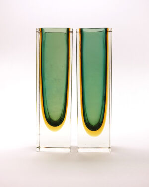 green-block-vases