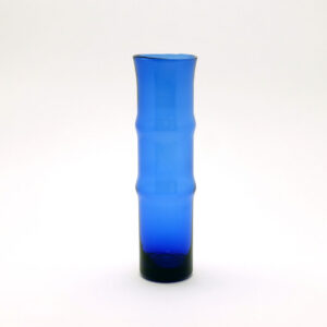 cobalt-blue-bamboo-shaped-aseda-style-blown-glass-vase