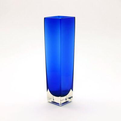 square-blue-blown-glass-vase