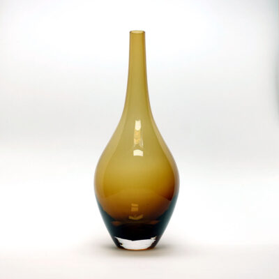 Amber Blown Glass Salong Vase
