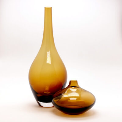 Amber Blown Glass Salong Small Vase