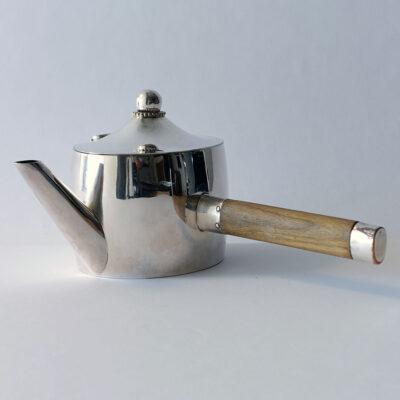 Josef Hoffmann Wiener Werkstätte 1920s Silverplate Teapot-2