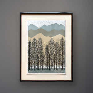 joe-ardourel-winter-landscape-woodcut-orig-frame-wall