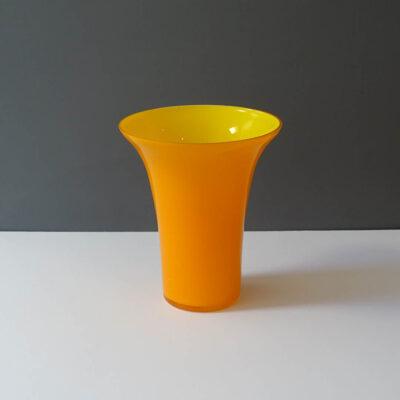 tarnowiec-poland-orange-yellow-cased-glass-vase
