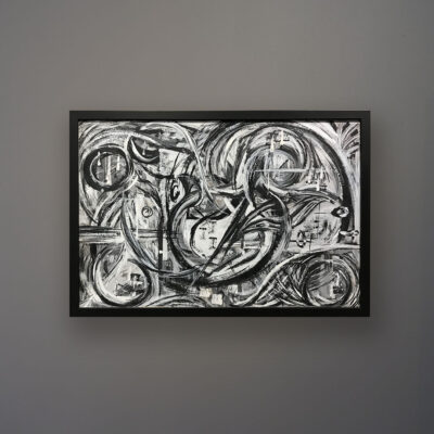 monochrome-mid-century-modern-abstract-oil-painting