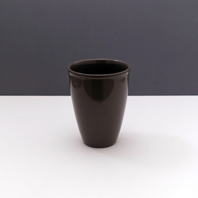 black-tapered-german-earthenware-planter-vase