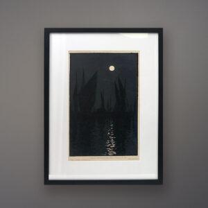 guerard-soleil-couchant-honfleur-black-frame
