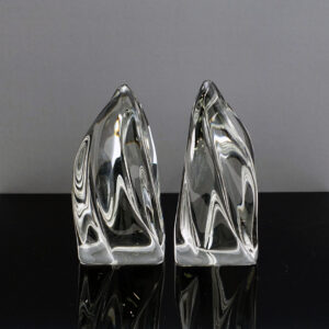 daum-france-flame-crystal-bookends