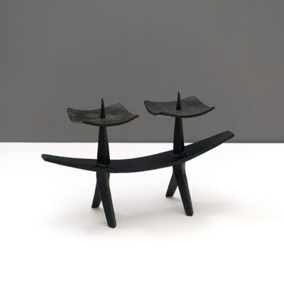 italian-mid-century-modern-cast-iron-candle-holder