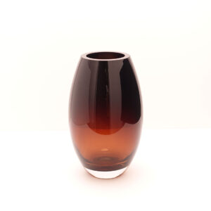 handmade-barrel-shape-heavy-amber-crystal-vase