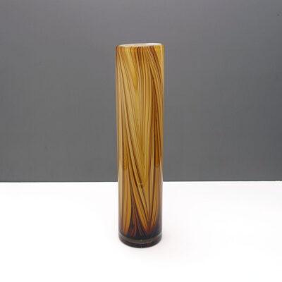 swirl-striped-columnar-earthtone-cased-glass-vase