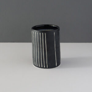 small-black-stripe-studio-pottery-vessel