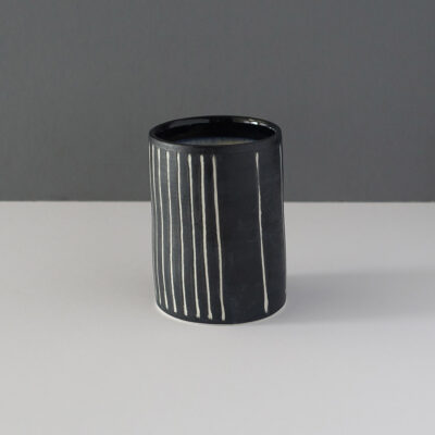 small-black-stripe-studio-pottery-vessel