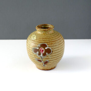 japanese-stoneware-weed-pot-flower-design-vintage