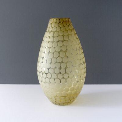 large-polka-dot-etched-teardrop-golden-glass-vase