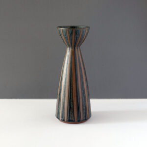 striped-blue-sepia-studio-pottery-vase