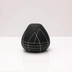 handmade-matte-black-sgraffito-bud-vase