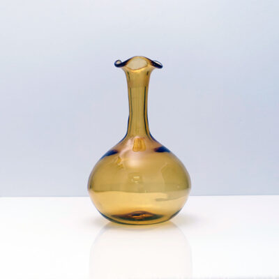 amber-blown-glass-long-neck-curved-mouth-vase