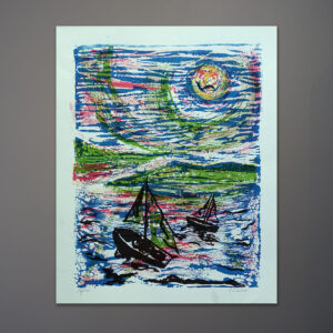 1970s-a-laurie-sailboats-silkscreen-print-16x20