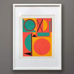 1970s A. Thessler Abstract Silkscreen Print framed