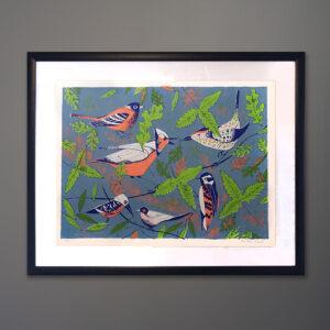 1970s Edward Arden Birds Silkscreen Print-2