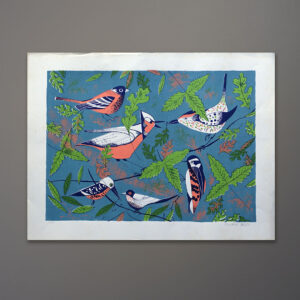 1970s-edward-alden-birds-silkscreen-20x26