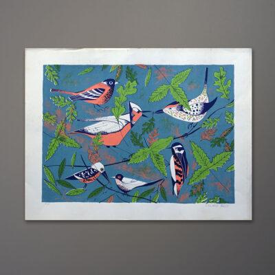 1970s-edward-alden-birds-silkscreen-20x26