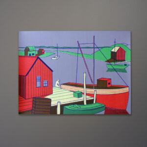 1970s-fisherman-pier-boats-silkscreen-print-16x22
