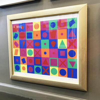 1970s G. Arloff Abstract Silkscreen Print