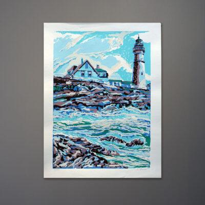 1970s-lighthouse-silkscreen-print-18x24