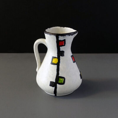 west-german-jasba-mondrian-style-pitcher