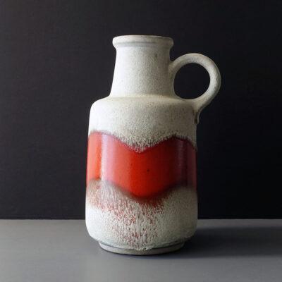 west-german-scheurich-large-white-red-floor-vase