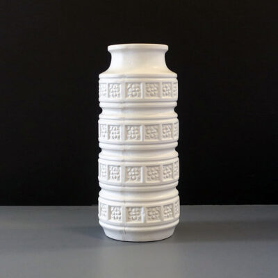 west-german-white-relief-cylinder-vase
