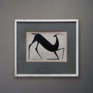 henry-newman-deer-woodcut-1963