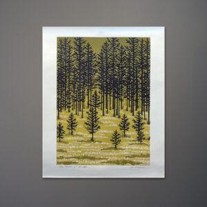 joe-ardourel-pine-meadow-silkscreen-print-1970s