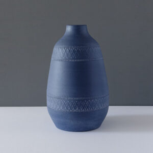 patterned-matte-blue-very-large-vase