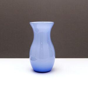 blue-opaque-blown-glass-vase