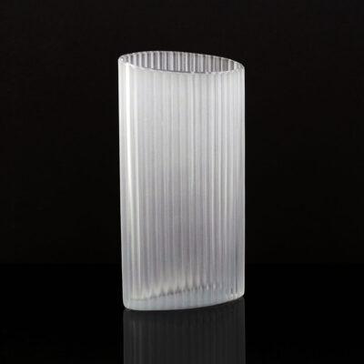lindshammar-sweden-frosted-crystal-column-vase