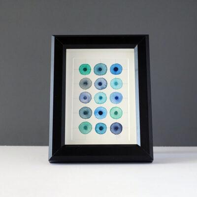 leah-peeks-4x6-gray-blue-dots-mat-black-frame