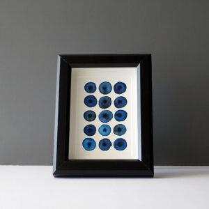 leah-peeks-blue-dots-4x6-mat-black-frame