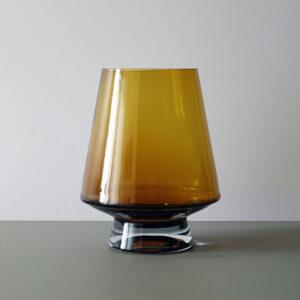 Scandinavian Mod Amber Blown Glass Vase